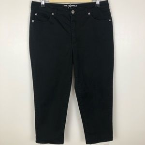 Karl Lagerfeld Crop Ankle High Rise Jeans